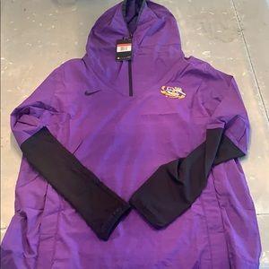 Men's Nike LSU light jacket with hood purple